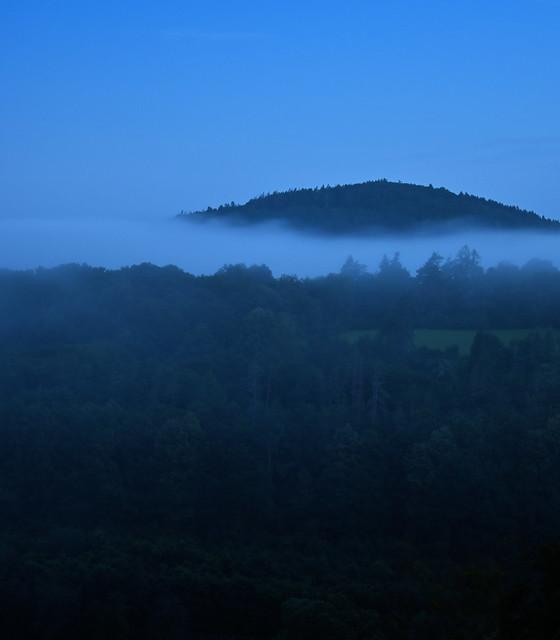 Lake Placid ~ Adirondack Mountains  ~ UNESCO -  Foggy Evening
