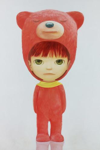 Red Bear Boy, Oil on canvas 57.3  x 38.2. From Artist Spotlight: Mayuka Yamamoto