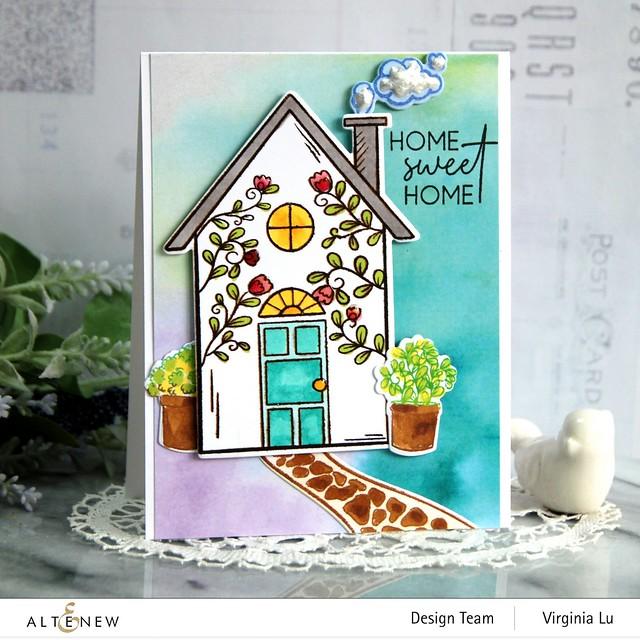 Altenew-HomeSweet Home Stamp & Die Bundle-Gel Printing Soft Washes 6x6 Paper Pack (2)