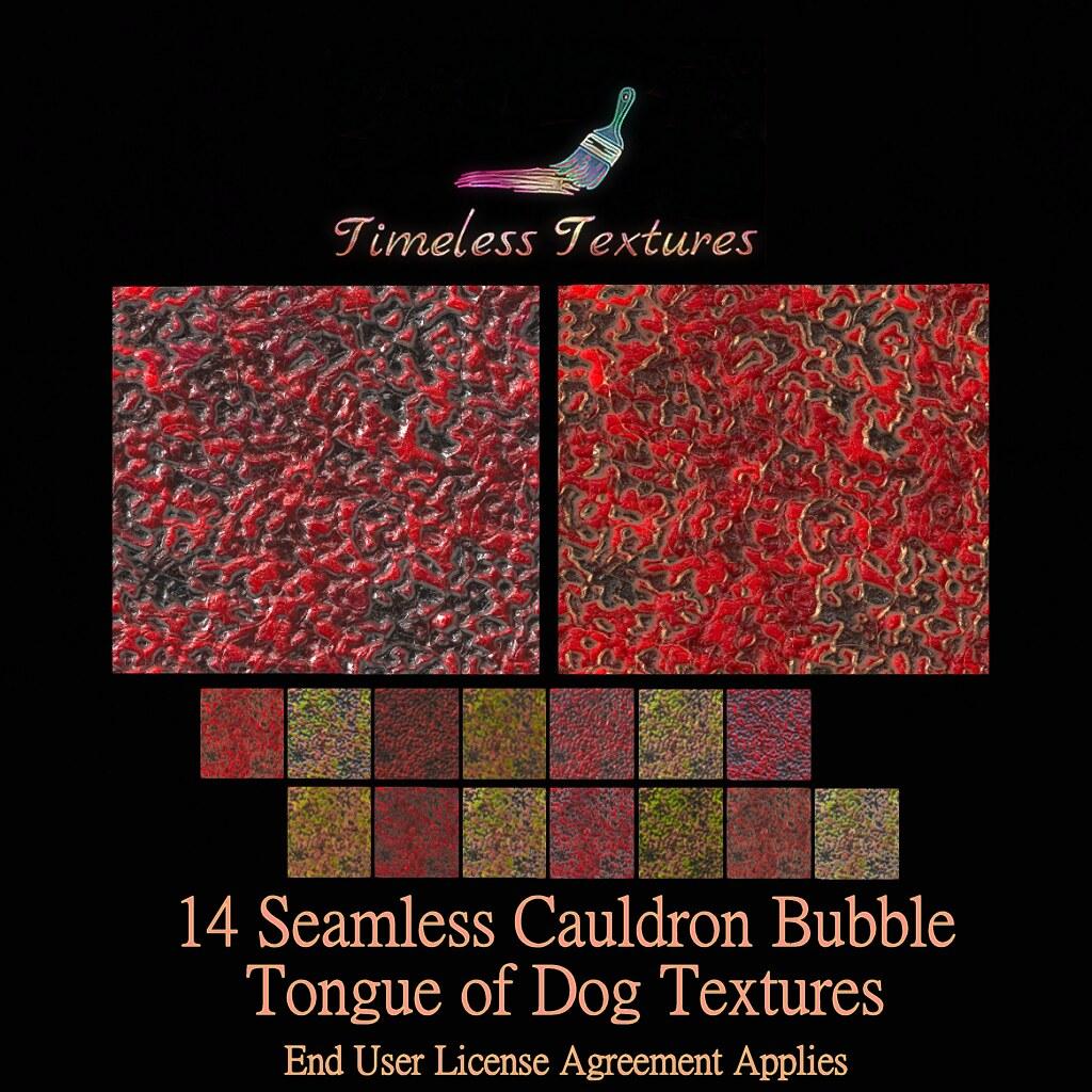 TT 14 Seamless Cauldron Bubble Tongue of Dog Timeless Textures