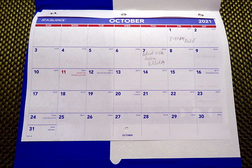 October 2021 Diary