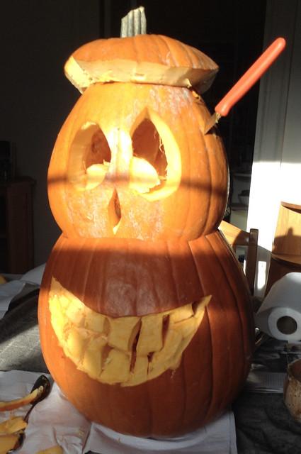 Hallowe'en's coming.