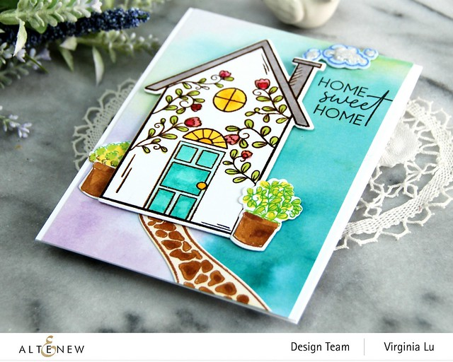 Altenew-HomeSweet Home Stamp & Die Bundle-Gel Printing Soft Washes 6x6 Paper Pack (3)