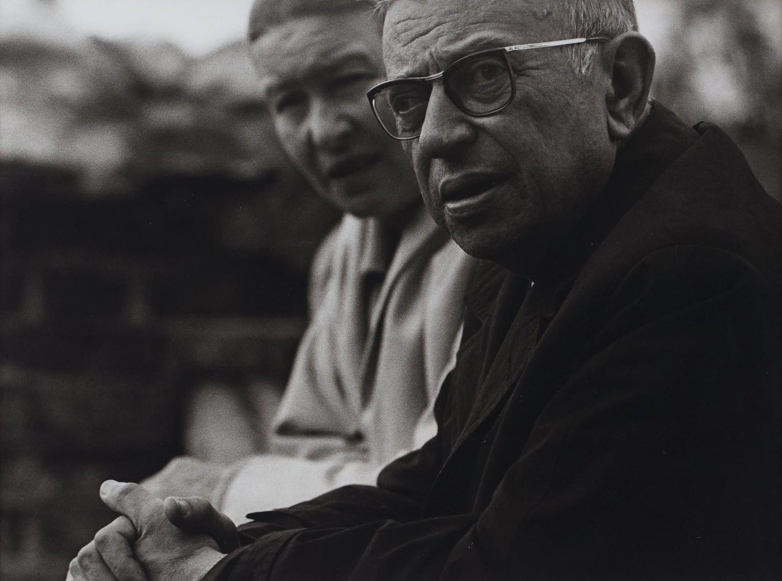 38. 1965. Дж. П. Сартр и Симона де Бовуар в Ниде