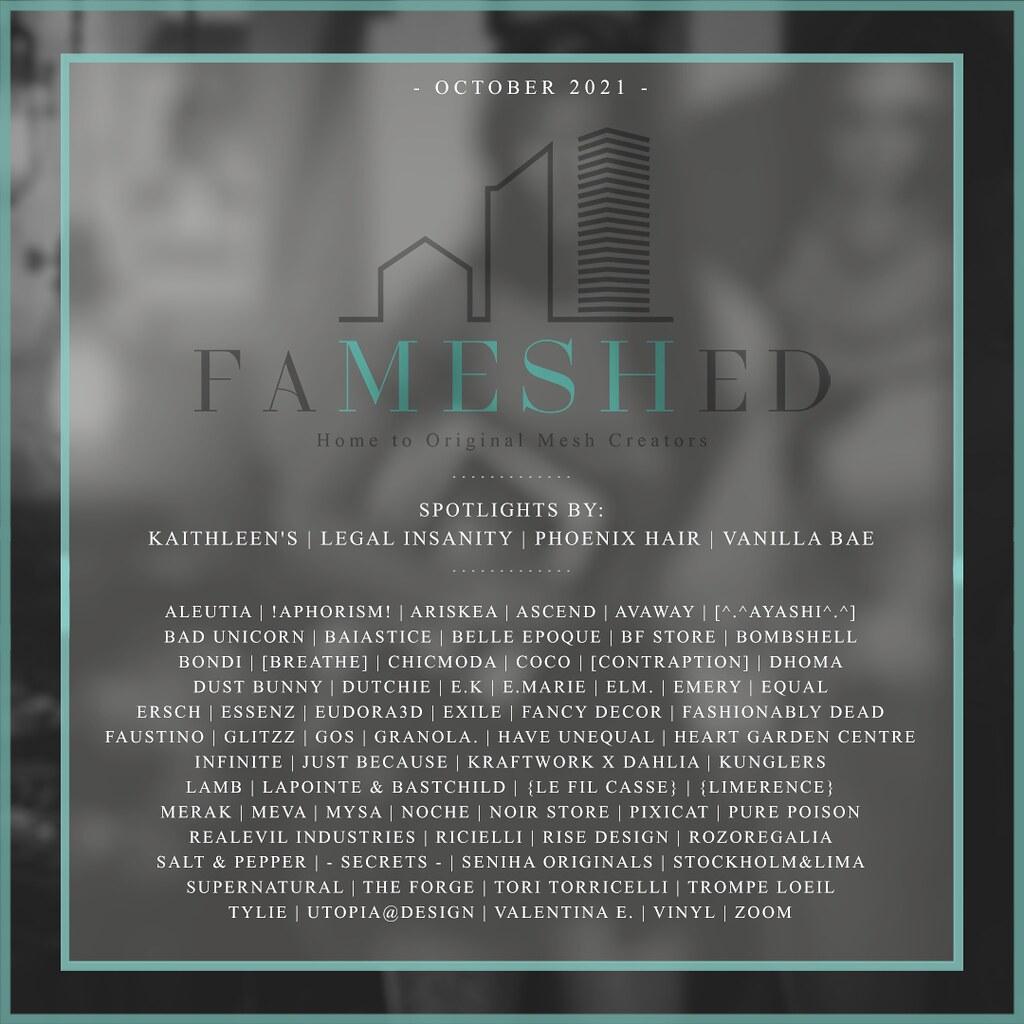 FaMESHed: October 2021 Edition.