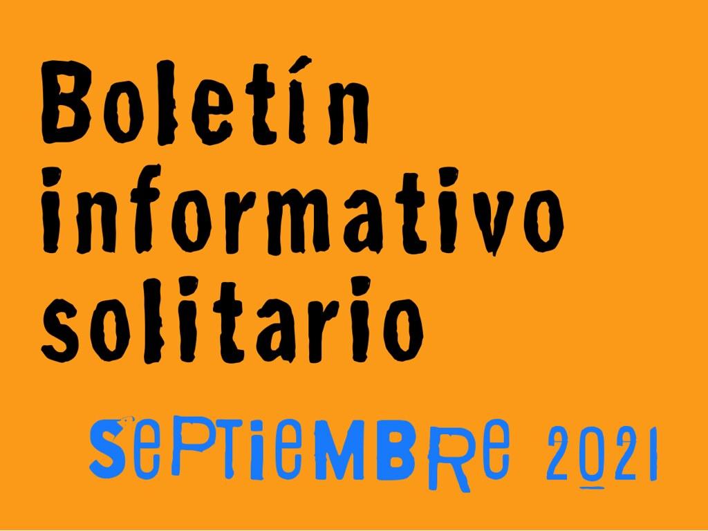 Boletín Informativo Solitario: septiembre 2021