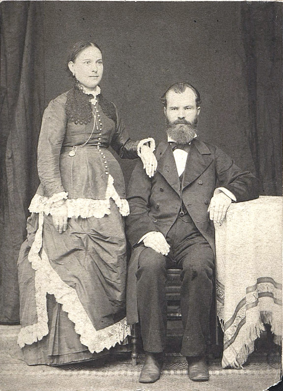 Андреев Василий Павлович, владелец лавки красного товара в Дмитрове, и его жена Евдокия Сергеевна