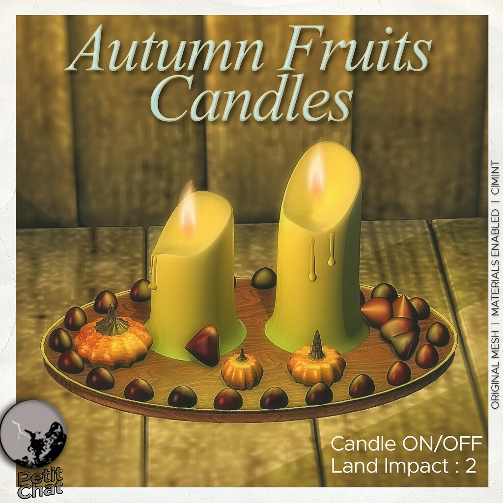 New release : Autumn Fruits Candles @ I ♥ The Cart Sale-Monster Party (Exclusive Hunt Prize)