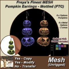 FFJ Pumpkin Earrings - Mottled (FTC) TEX