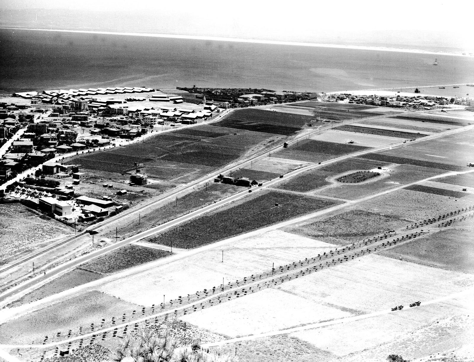 1934. Аэрофотоснимок района Бат Галим в Хайфе