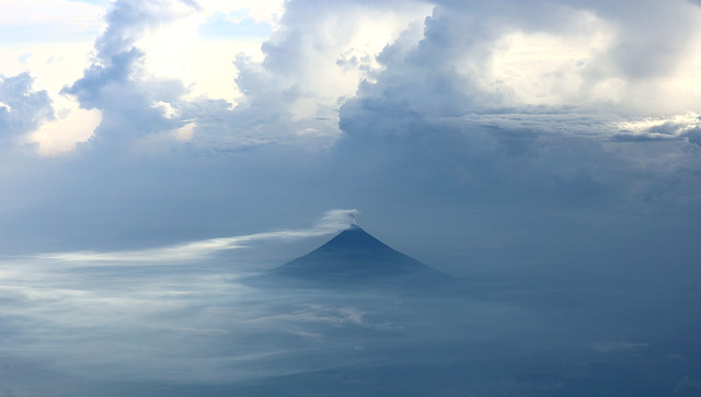 Mayon, Philippines...from the flight levels