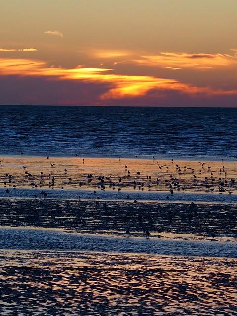 Sunset at Heacham South Beach.