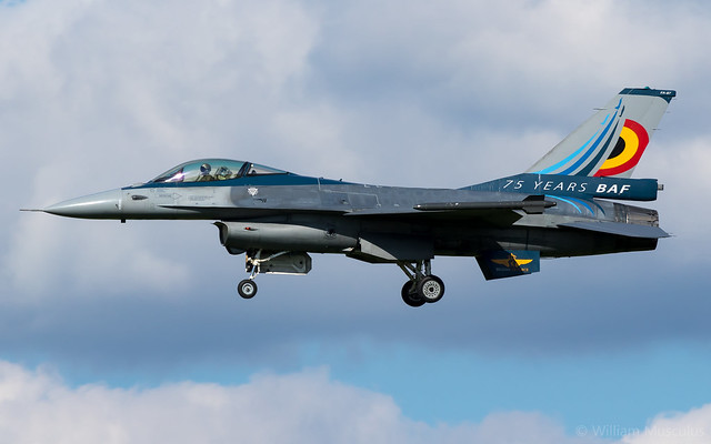 General Dynamics F-16AM Fighting Falcon FA-87 Belgian Air Force - 75 Years Livery