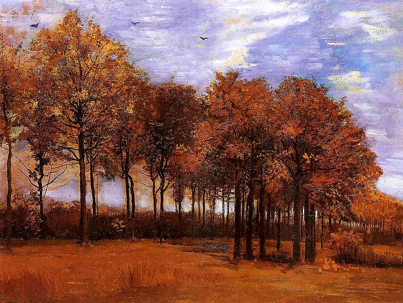 Картина художника Вінсента Ван Гога «Осінній пейзаж», 1885 р. Полотно, олія. Музей Фітцвілльям, Кембридж, Великобританія