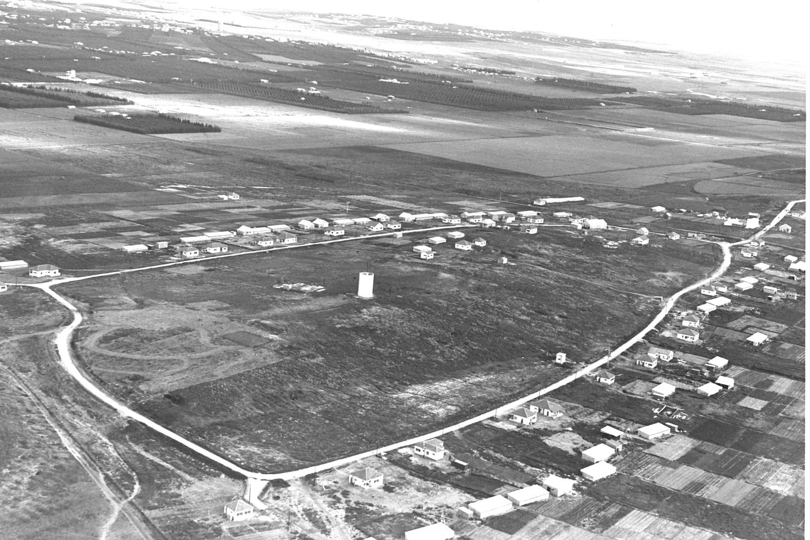 1938. Аэрофотоснимок Кфар-Шмарьягу