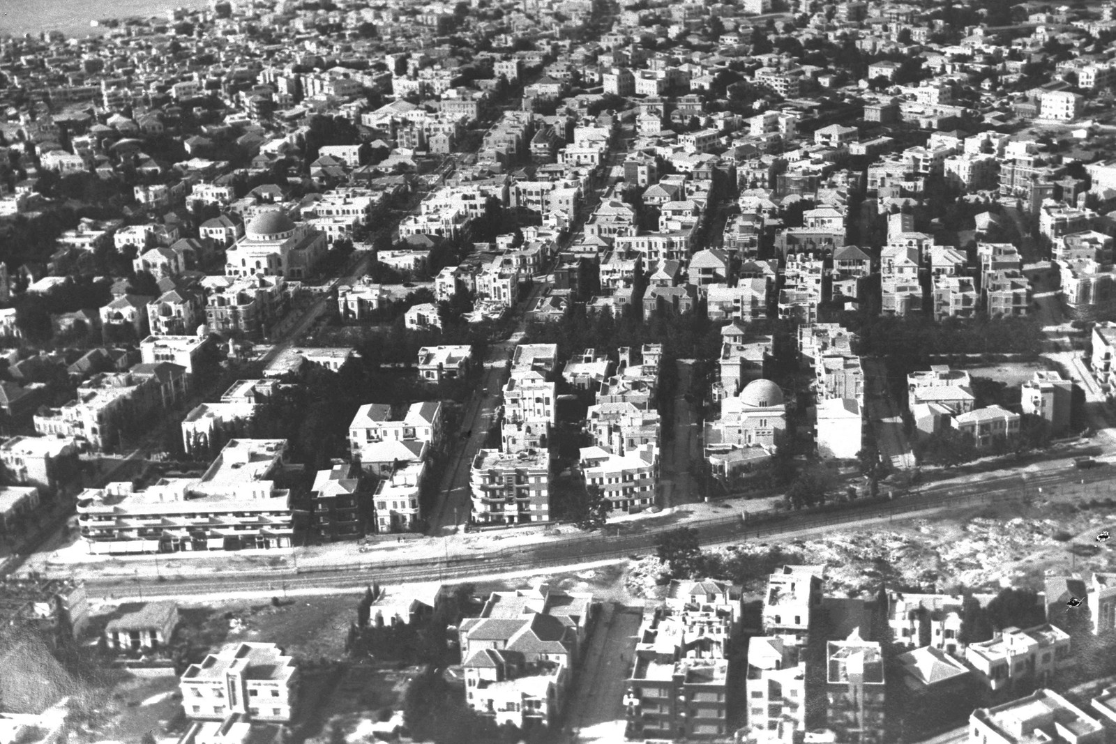1937. Аэрофотоснимок Тель-Авива
