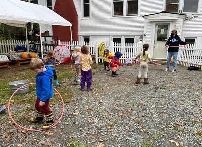hula hooping with Makenna
