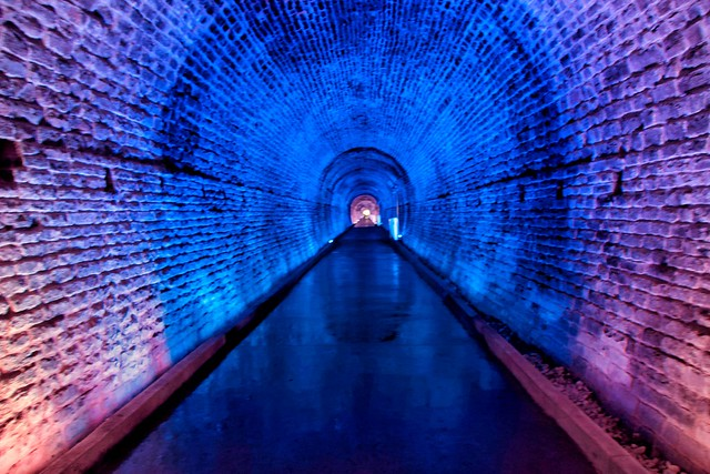 Brockville  Ontario - Canada -  Philips Light Show -  365 days a year - Old Railway Tunnel