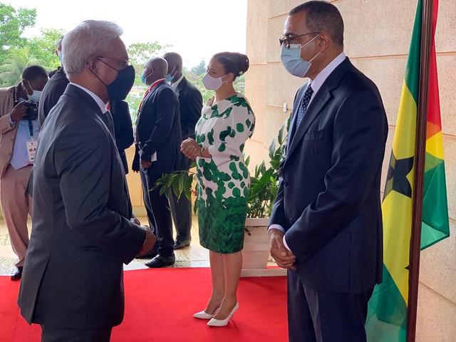 21.10. Secretário Executivo na tomada de posse do Presidente da República de São Tomé e Príncipe