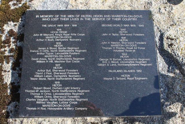 Hilton War Memorial Panel