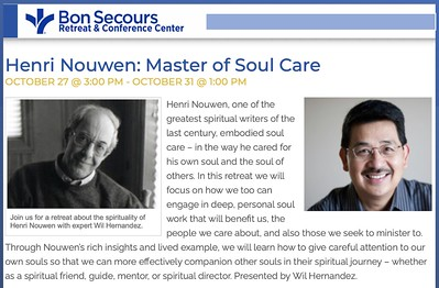 Henri Nouwen: Master of Soul Care Oct. 27 @ 3:00 PM - Oct. 31 @ 1:00 PM