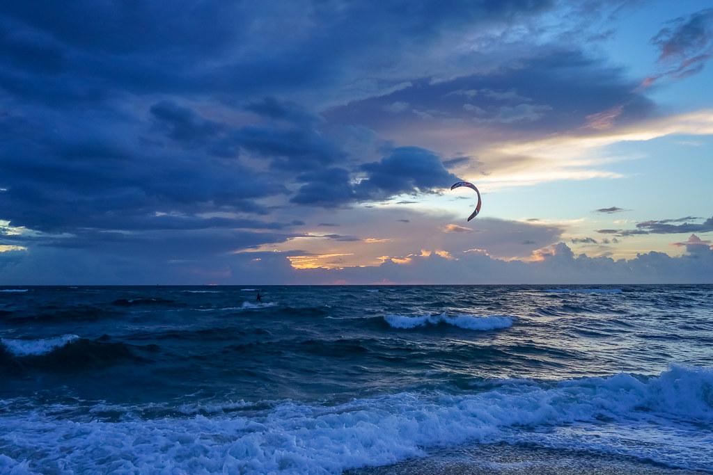 Sunrise with a kite