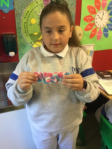 Knitting Fun In Fifth Class