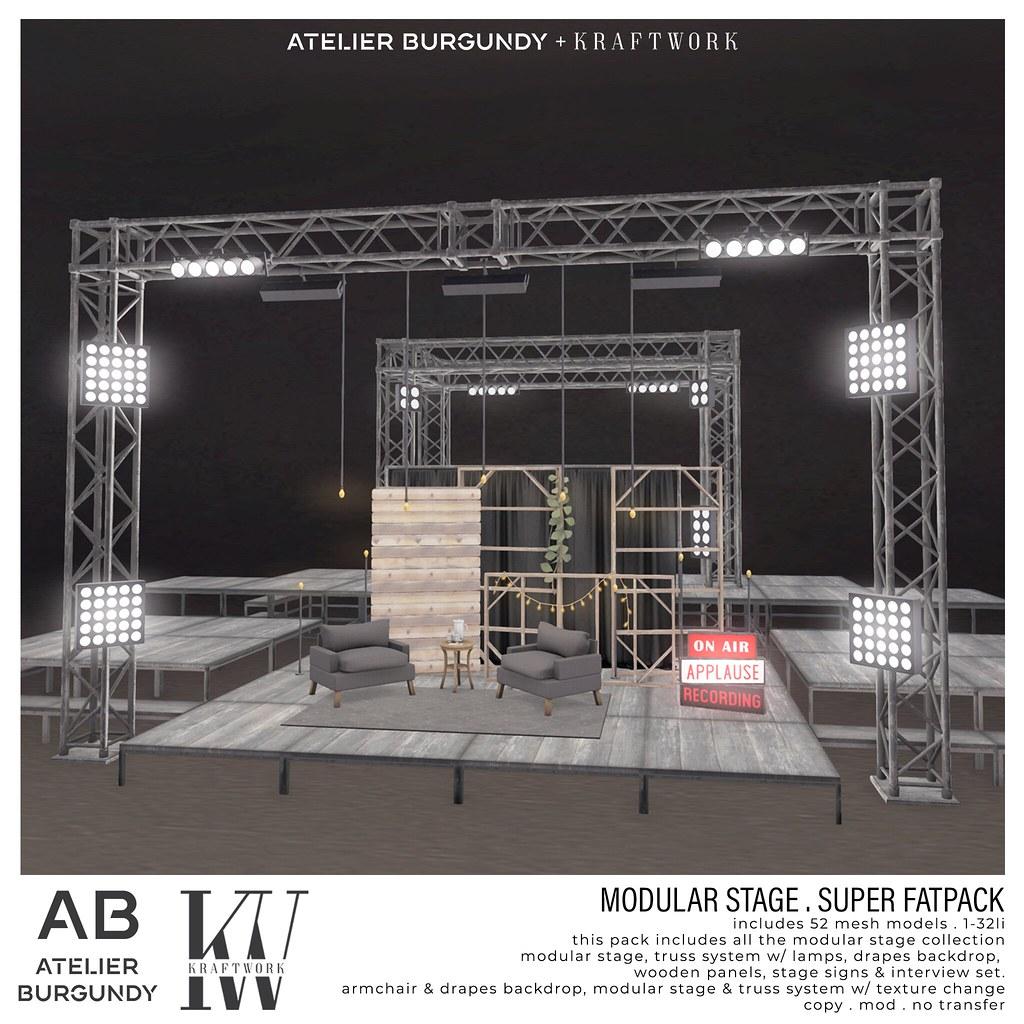 Atelier Burgundy + Kraftwork . Modular Stage