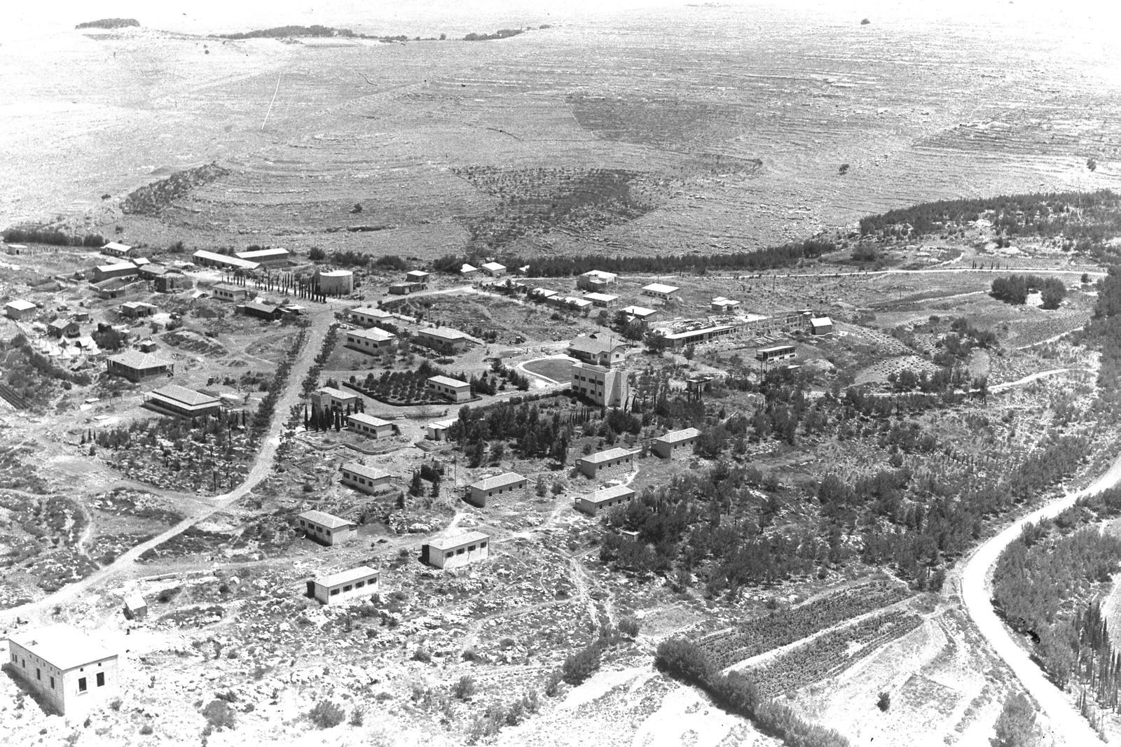 1945. Аэрофотоснимок кибуца Маале-ха-Хамиша
