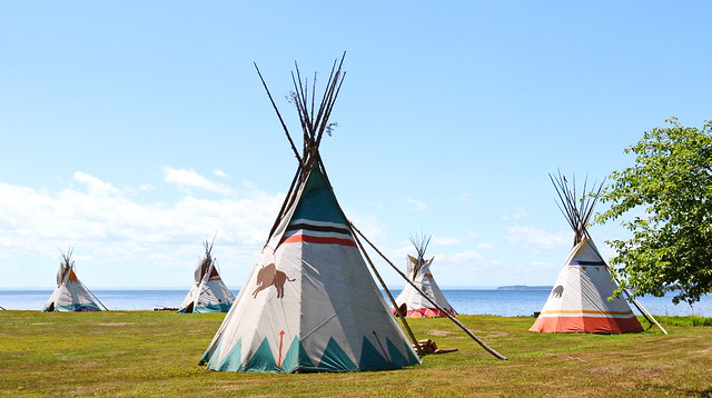 MICMACS  OF GESGAPEGIAG  | FIRST NATION  | TEEPEES | TEPEES | MARIA |  GASPE PENINSULA | QUEBEC | CANADA