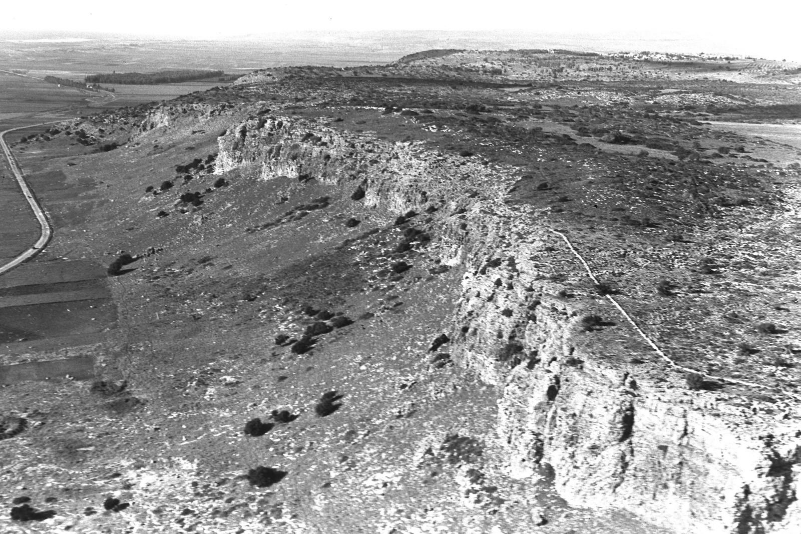 1938. Аэрофотоснимок хребта Кармель близ Зихрон-Яакова