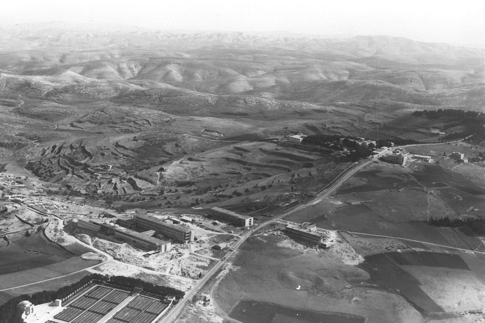 1937. Аэрофотоснимок медицинского центра «Хадасса» и университета