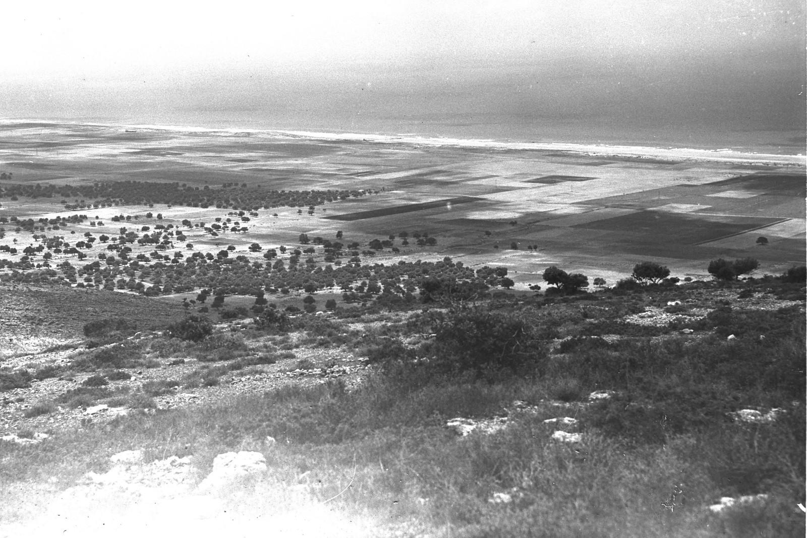 1934. Аэрофотоснимок долины Звулун