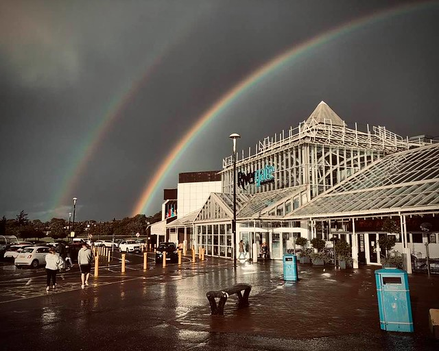 Double Rainbow over the Rivergate Mall