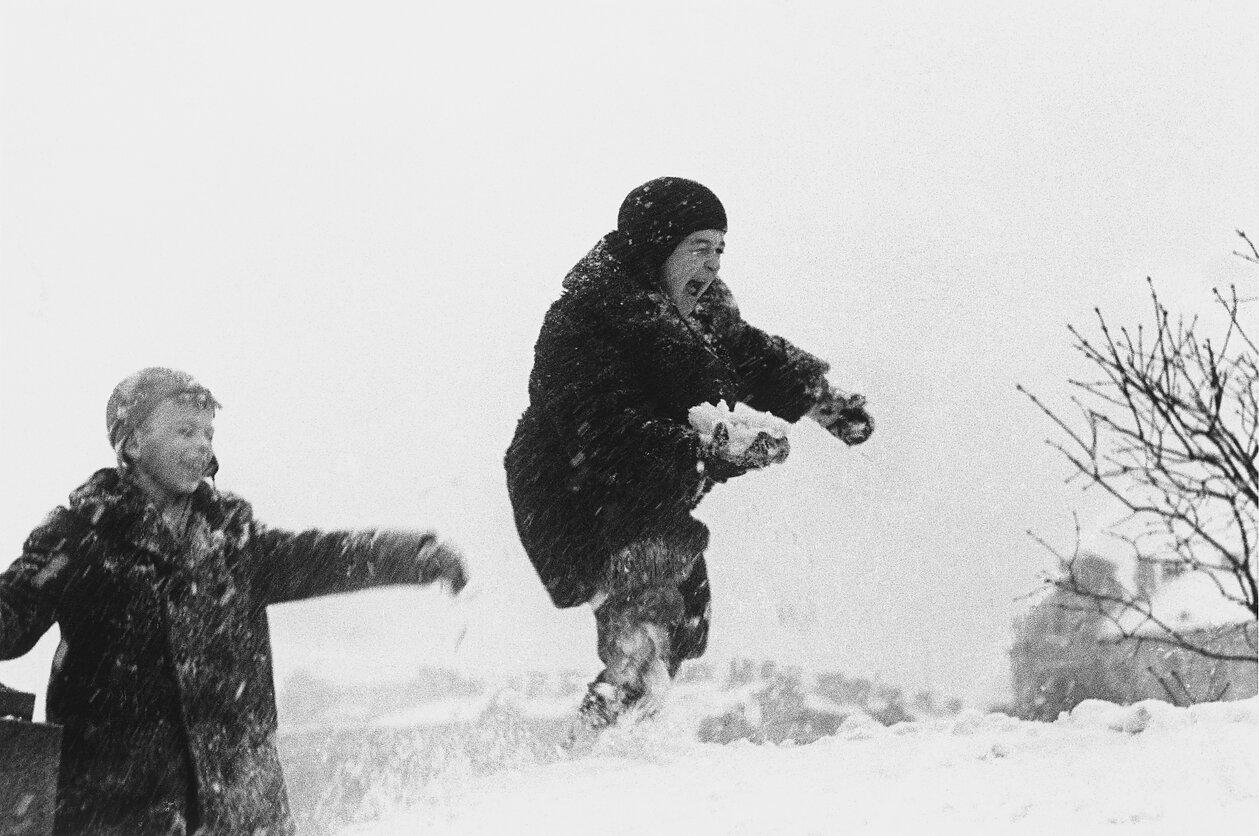 1960. Вильнюс. Дети и снег
