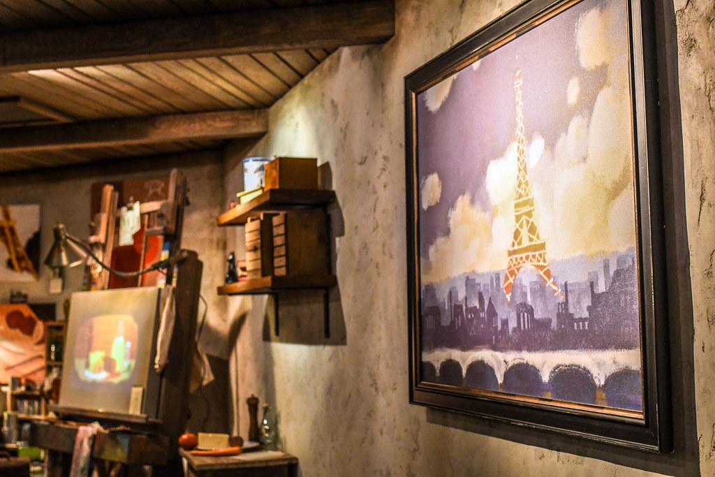 Remy's Ratatouille Adventure artist attic Epcot France