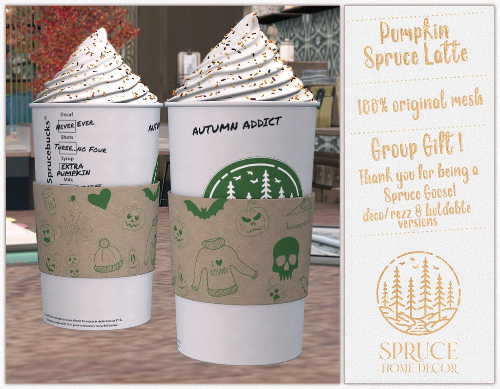 .spruce. pumpkin spruce latte {group gift!}