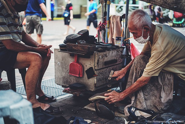 Street Cobblers - a dying trade?