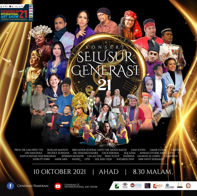 21 Seniman Jayakan Konsert Selusur Generasi 21