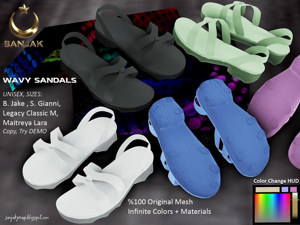 Wavy Sandals Unisex Infinite Colors HUD Sanjak