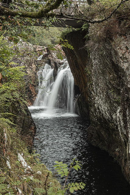 Water of Nevis waterfall Glen Nevis Lochaber