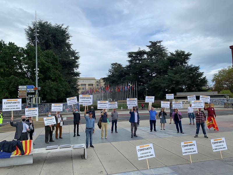"Ginebra (Suiza) homenajea a los 8.000 catalanes asesinados por Lluís Companys (ERC): ""Companys, l'assassi de 8.000 catalans"""