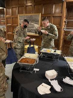 Cadets at West Point enjoying Taste Tradition Mac and Cheese.