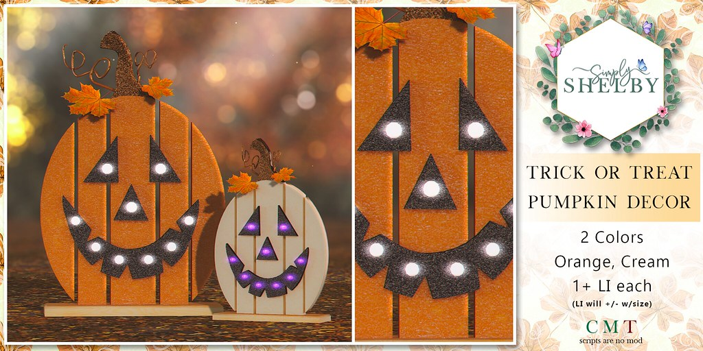 Simply Shelby Trick or Treat Pumpkin Decor