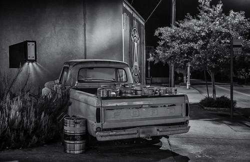 Off-Fording kegs (b&w)