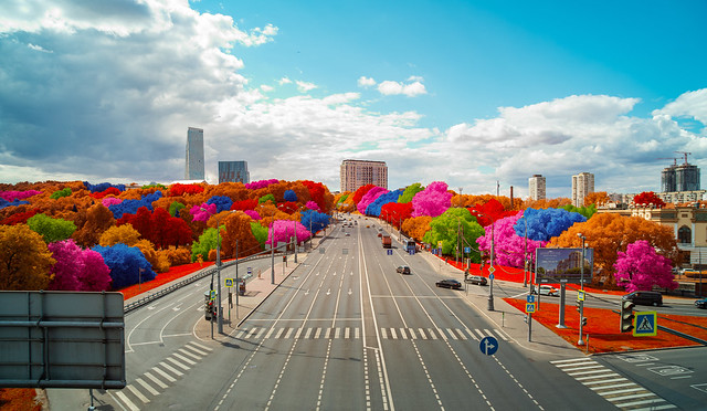 Streets of Moscow. Infrared shot.