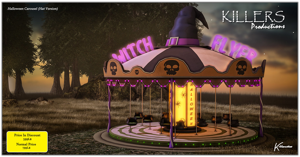 """""""Killer's"""" Halloween Carousel On Discount @ Secondlife Hop & Shop 2021 Event Starts from 1st October"""