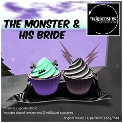 Widdershins - Monster Cupcakes {The Monster & His Bride]