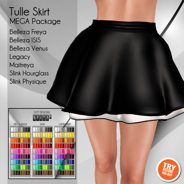 [D2T Designs] Tulle Skirt #MegaPack ADD