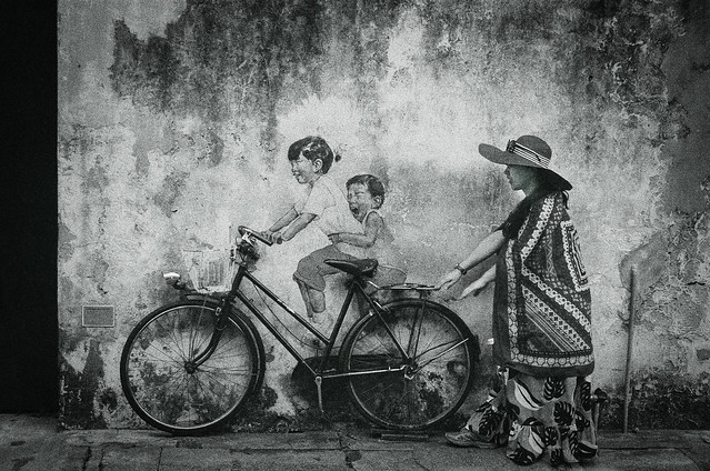 Mural - Kids on Bicycle by Ernest Zacharevic